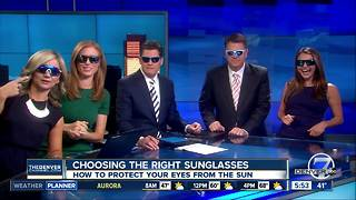 Choosing the right sunglasses to protect your eyes from the sun