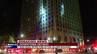 One dead in downtown Detroit apartment fire - Video