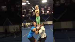 Talented 7-Year-Old Nails Cheerleading Routine - Video