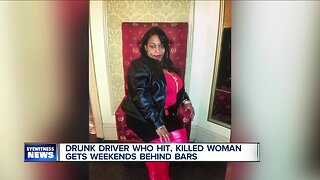 Drunk driver who hit and killed woman gets weekends behind bars
