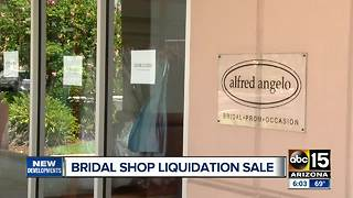 Tucson bridal store holding liquidation sale - Video