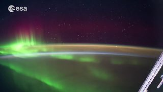Stunning timelapse shows Earth from the International Space Station - Video
