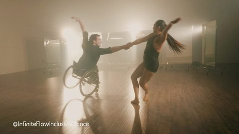 Paralysis to professional dancer: Dancing duo show strength and resilience during wheelchair ballroom dancing