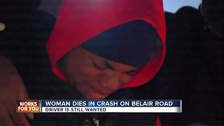 27-year-old woman dies in crash; driver flees on foot - Video