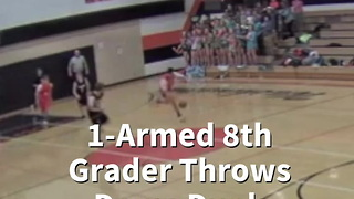One-Armed 8th Grader Throws Down Dunk - Video