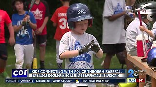 Kids connecting with police through baseball