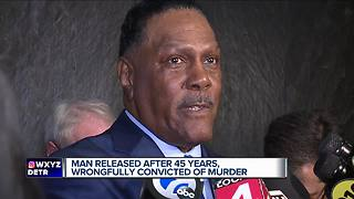 Charges dismissed against Detroit man wrongfully convicted in 1972 - Video