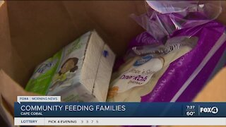 Community comes together to help feed families