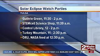 Solar eclipse watch parties across Tulsa - Video