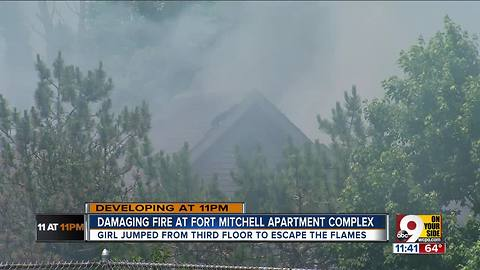 Fort Mitchell girl jumps from apartment window to escape fire