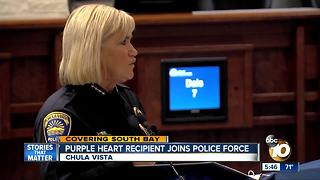 Purple Heart recipient joins Chula Vista police force - Video