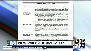 Prop 206: Paid sick leave rules starting July 1st; what you need to know - Video