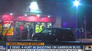 2 dead, 4 hurt in shooting on Garrison Boulevard - Video