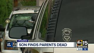 Son finds parents dead Monday morning in Phoenix home - Video