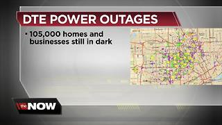 DTE Energy: 105,000 remain without power in southeast Michigan - Video