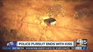 Pursuit suspect drives wrong-way, through fences in the southeast Valley - Video