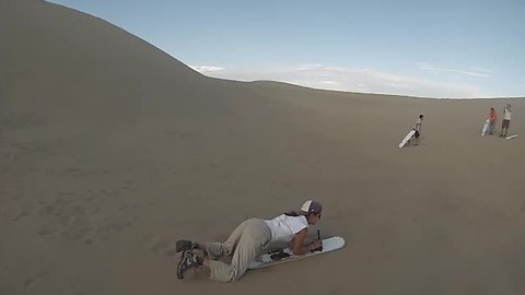 Sandboarding in the Huacachina desert