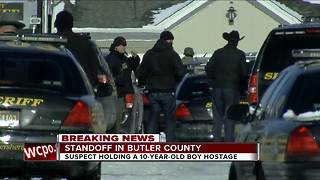 Man holds boy hostage at Liberty Township apartments, shoots at police - Video