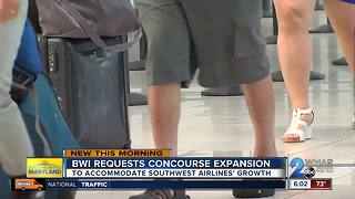 BWI requests concourse expansion to accommodate Southwest Airlines growth - Video
