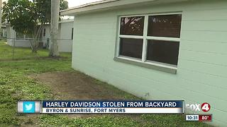 Motorcycle stolen out of Fort Myers backyard - Video