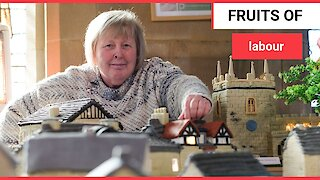 A brilliant baker has recreated an entire village made entirely out of CAKE