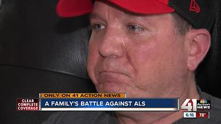 Father battles ALS with support from family