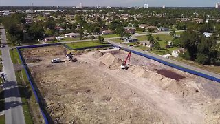 Aerials: Sludge removal in Dunbar - Video