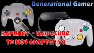 Raphnet - Nintendo GameCube Controller to N64 adapter v3 - Retro Gaming At Its Finest