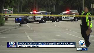 Man shot after vehicle crash in West Palm Beach. - Video