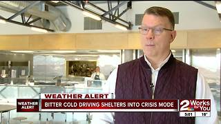 Bitter cold driving shelters into crisis mode - Video