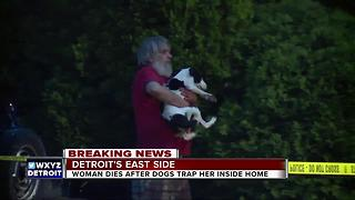 Woman dies after emergency crews delayed by dogs in Detroit house - Video