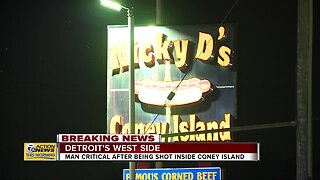 Man in critical after being shot inside coney island in Detroit