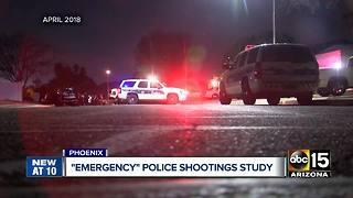 Phoenix police chief, city officials want study on spike of officer-involved shootings - Video