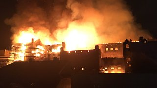 Historic Glasgow School of Art Building Engulfed in Flames