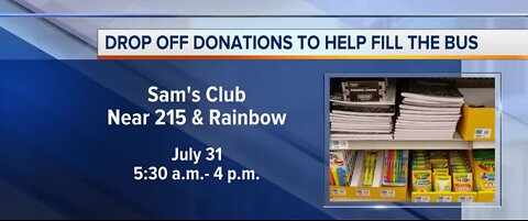 Drop off donations to help fill the bus