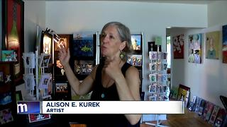 Artist bringing smiles with her whimsical creations - Video