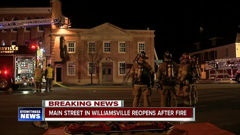 Main Street in Williamsville back open after small fire partially shut down road