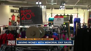 Saving money with Memorial Day sales - Video