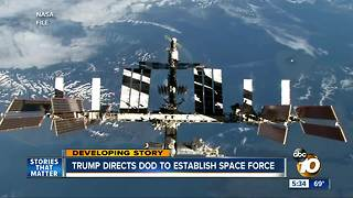 President Trump directs DOD to establish space force - Video