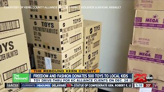 Freedom and Fashion donates 500 toys to Kern County kids in need
