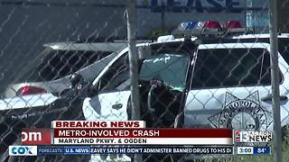 LVMPD involved in crash on Tuesday