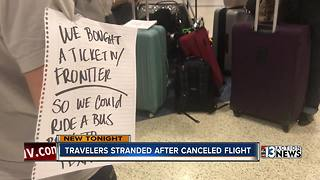 Travelers stranded after canceled flight - Video