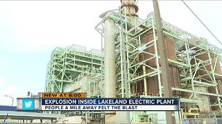 Violent explosion at Lakeland power plant - Video