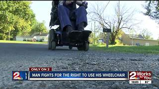 Police ban disabled man from riding his scooter - Video