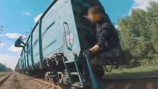 DAREDEVIL TRIO SURF ON HUGE FREIGHT TRAIN IN PULSE-RACING VIDEO