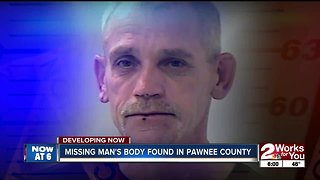 Missing man's body found in Pawnee County