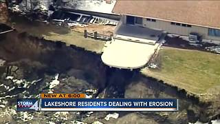 Lakeshore residents dealing with erosion