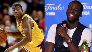 Draymond Green's HILARIOUS Response to Magic Johnson Saying the Showtime Lakers Would SWEEP Warriors - Video