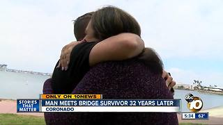 Woman survives mother's Coronado Bridge suicide as child, meets witness - Video