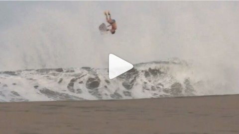 Take A Look As A Giant Wave Throws Wave Boarder High Into Air